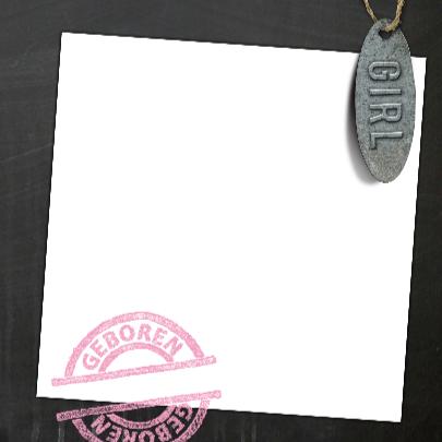 YVON geboorte label roze 3