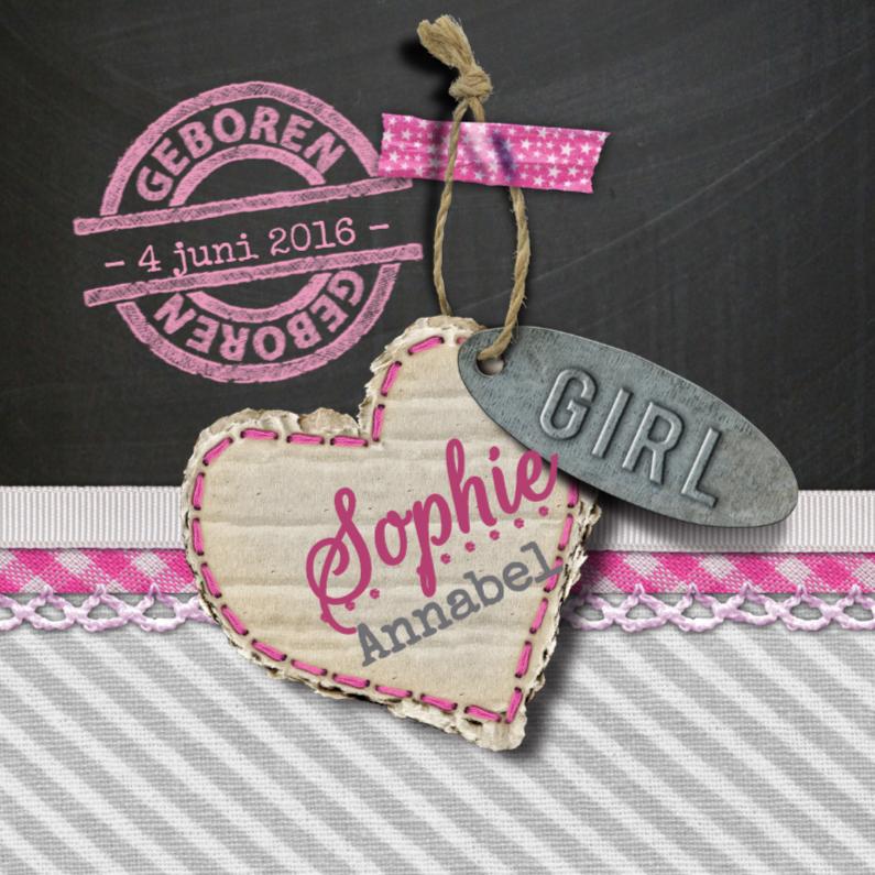 YVON geboorte label roze 1
