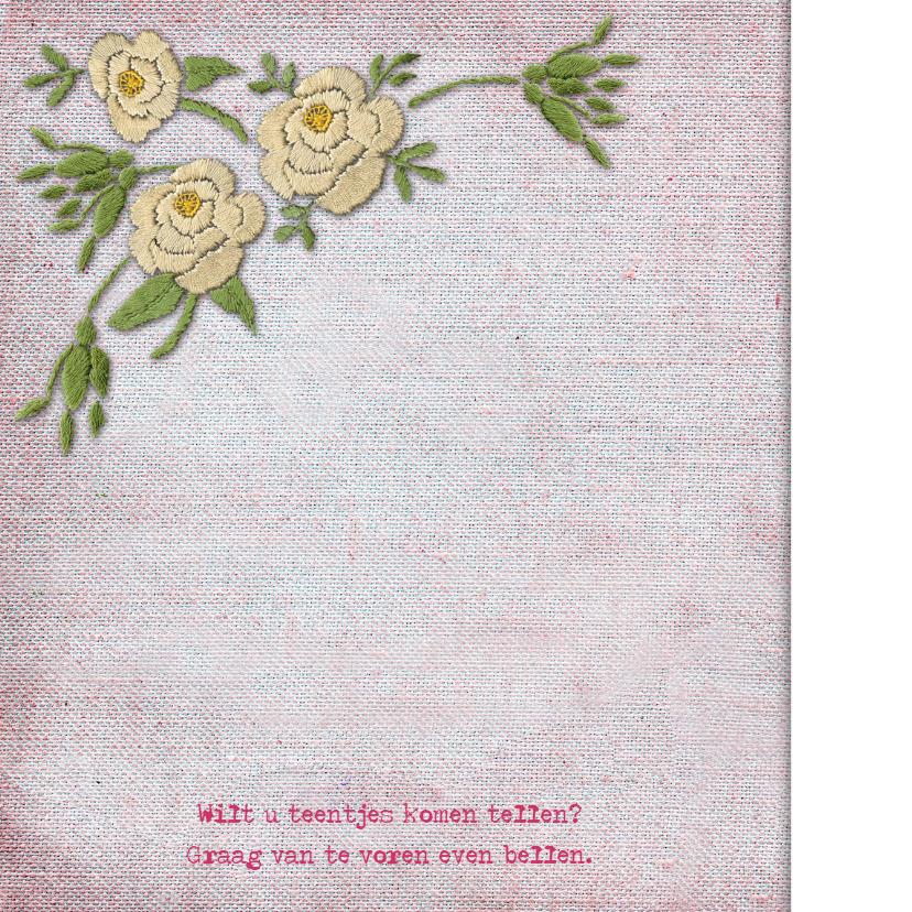 YVON geboortekaartje trend hip bloemen 2