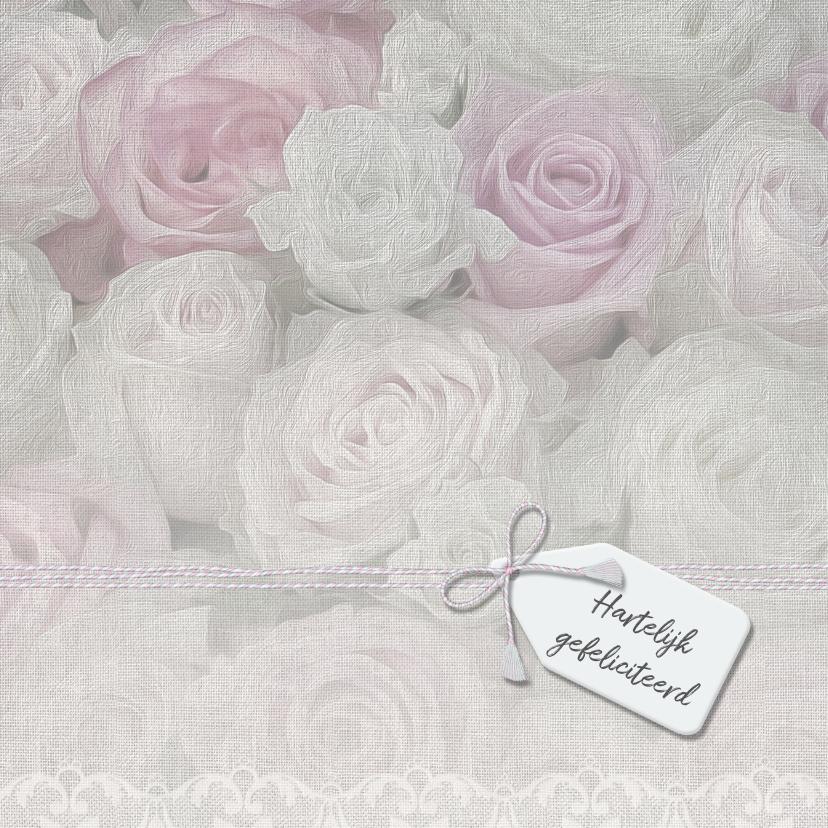 Zeg het met rozen op linnen 1