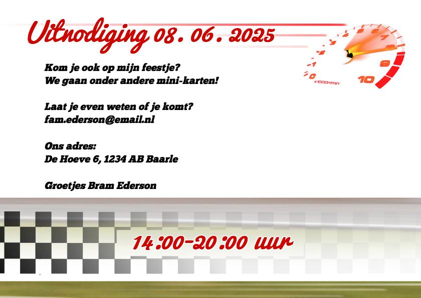 Zet jezelf in een Raceauto! - BK 3