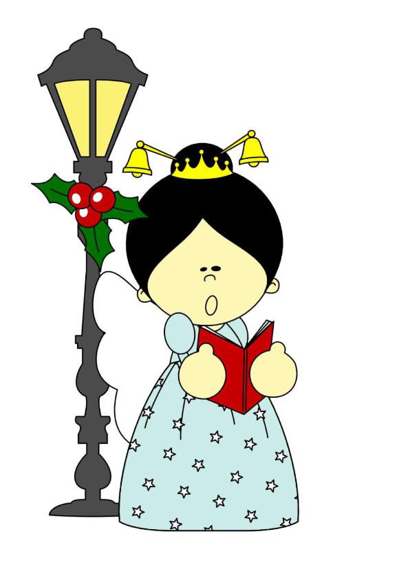 Zingend engeltje fijne Kerst! 1