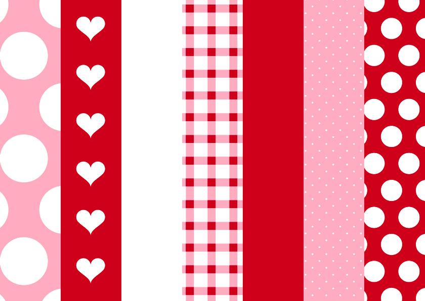 zomaar kaart Stippen hartjes en ruitjes 1