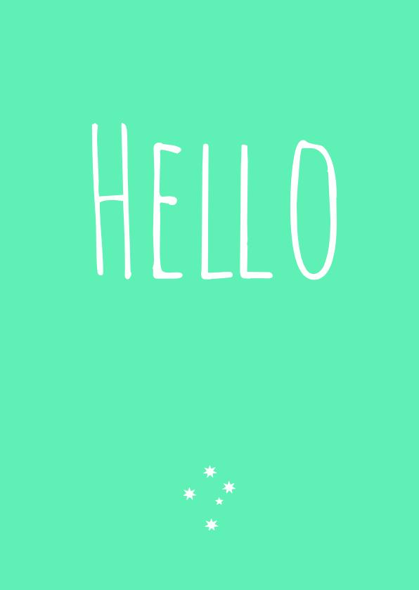 Zomaar kaartje Hello 1