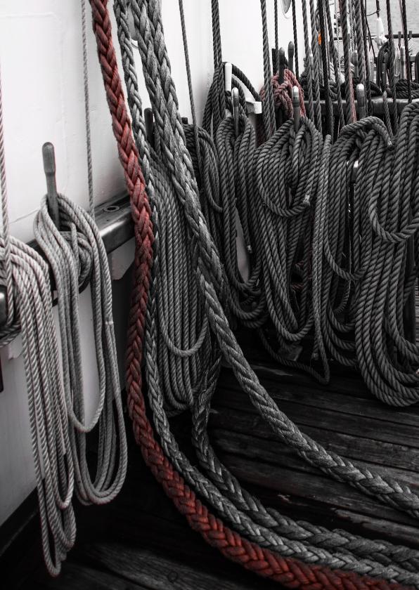 zomaarkaart, touwen op stok 1