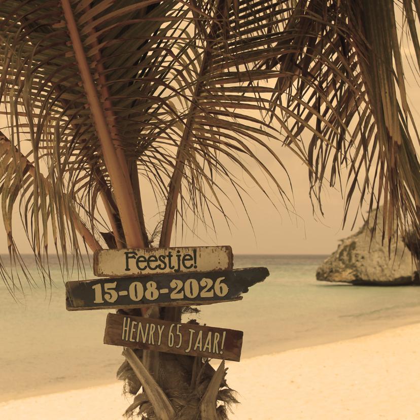 Zomerse kaart strand palmboom 4k 1