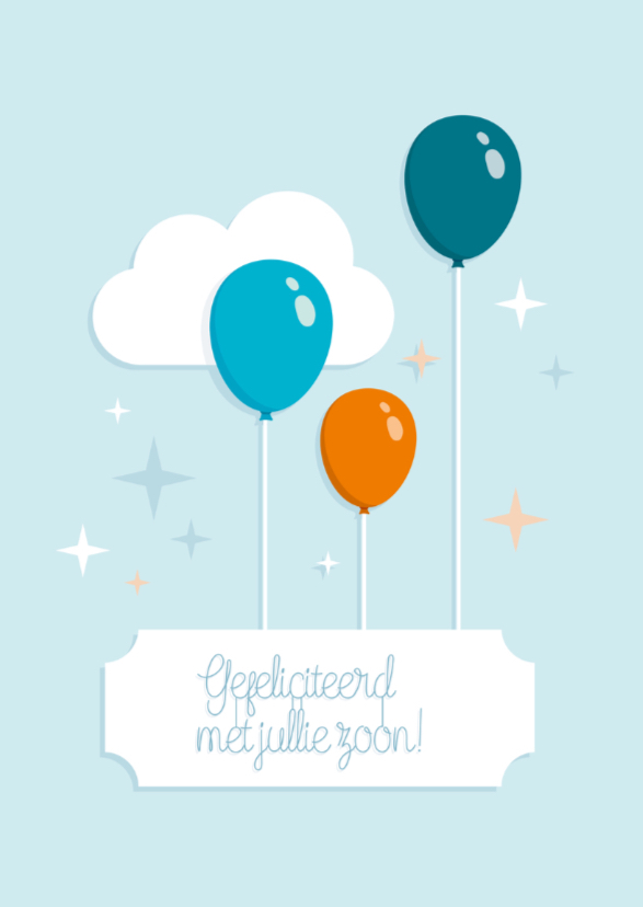 Zoon geboren felicitatie Ballon 2