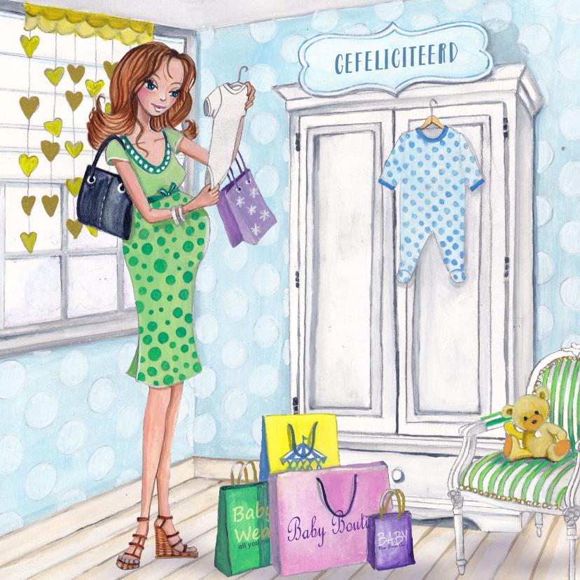 ZWANGER baby shop illustratie 1
