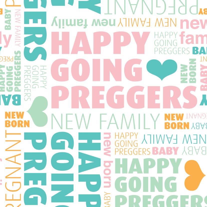 Zwanger felicitatie engels kaartje 1