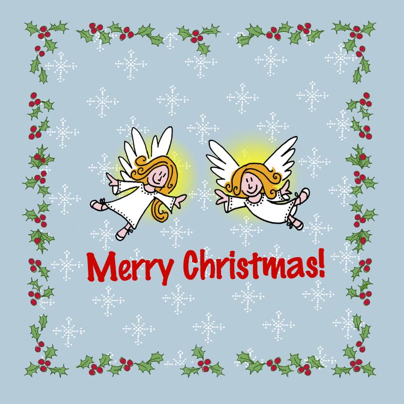 Kerstkaarten - 2 Engeltjes