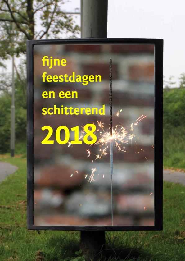 Kerstkaarten - 2018 billboard flikkerster