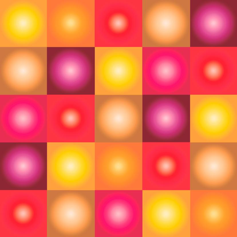 Kerstkaarten - 3-d bollen rood