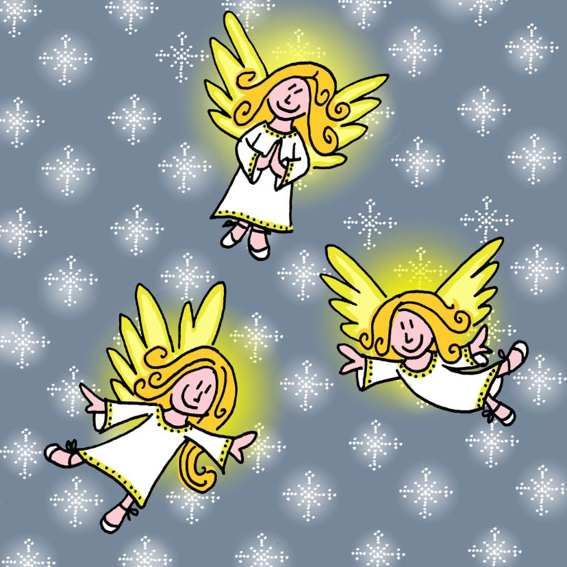 Kerstkaarten - 3 engeltjes