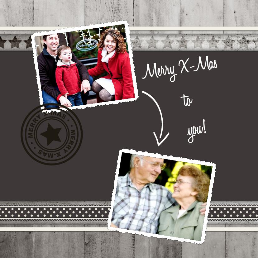 Kerstkaarten - Antraciet Merry X-mas! - BK