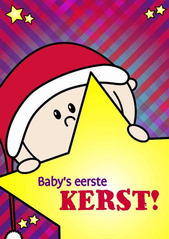 Kerstkaarten - Baby s eerste kerst JONGEN