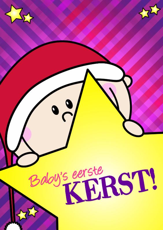 Kerstkaarten - Babys eerste kerst MEISJE