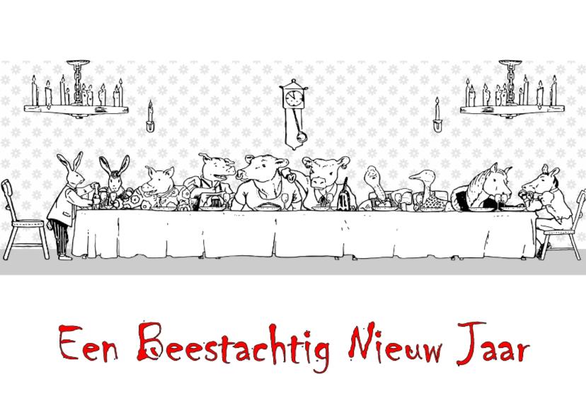 Kerstkaarten - Beestachtig Nieuwjaar