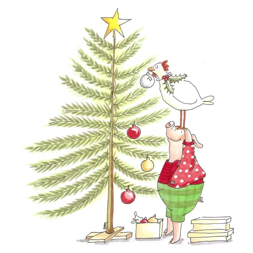 Kerstkaarten - Bijna kerstmis