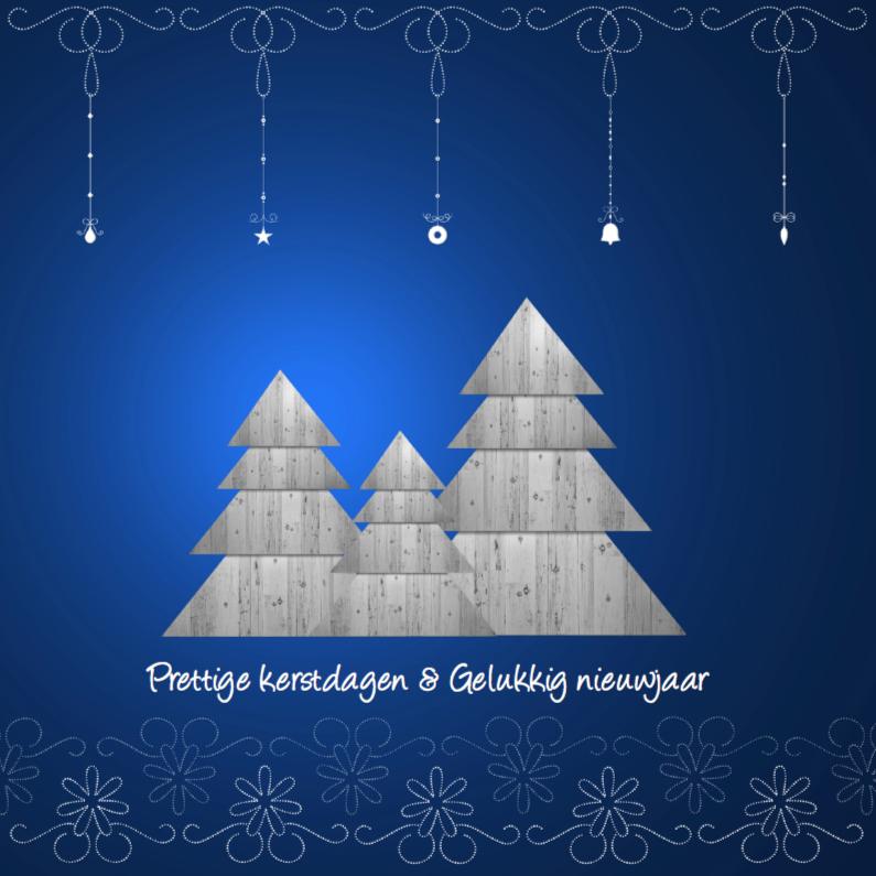 Kerstkaarten - Blauwe kerst achtergrond
