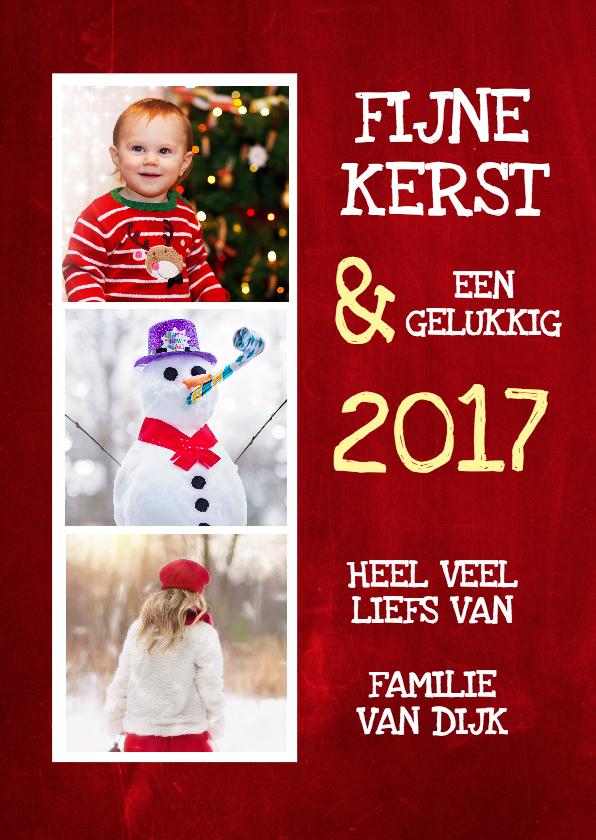 Kerstkaarten - Chalkboard Christmas Red - DH