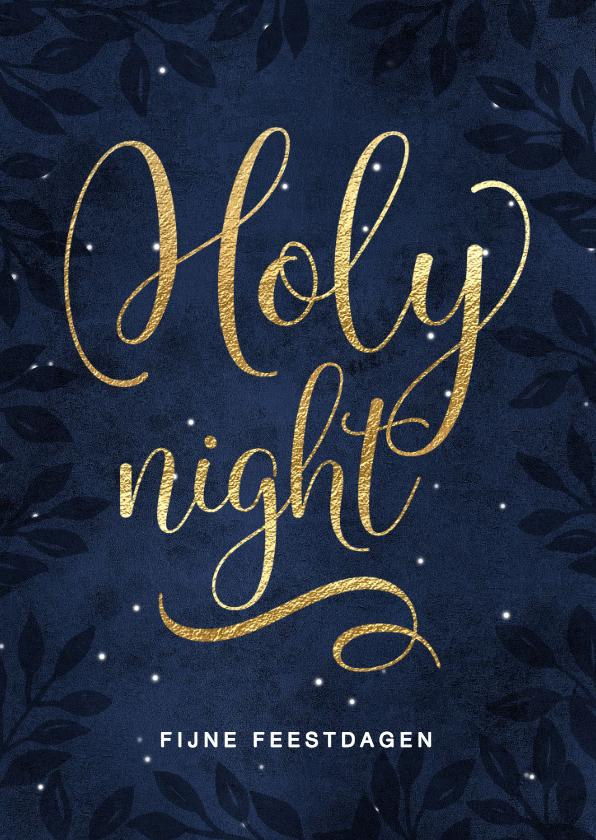 Kerstkaarten - Christelijke kerstkaart Holy Night