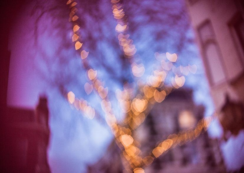 Kerstkaarten - Christmas love lights