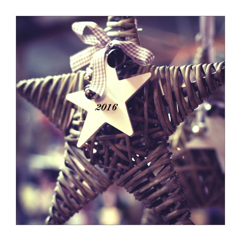Kerstkaarten - christmas star 2016