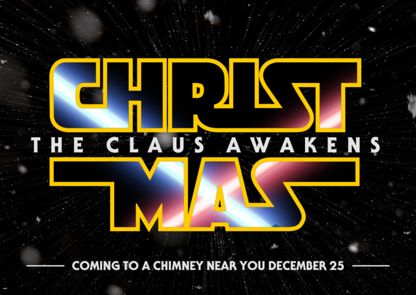 Kerstkaarten - Christmas The Claus Awakens