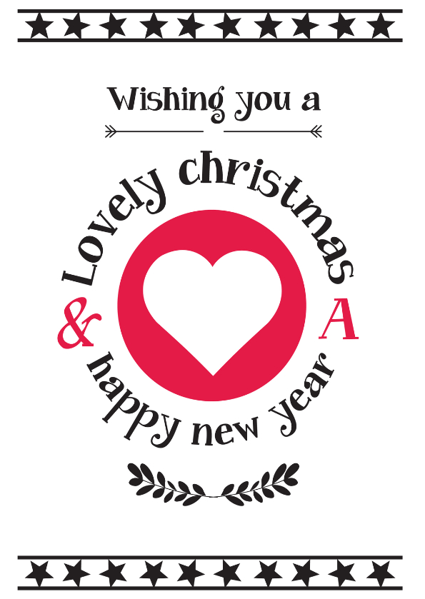 Kerstkaarten - Christmas wishing you love-ByF