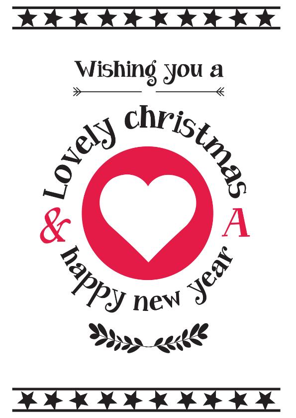 Kerstkaarten - Christmas wishing you love-ByF