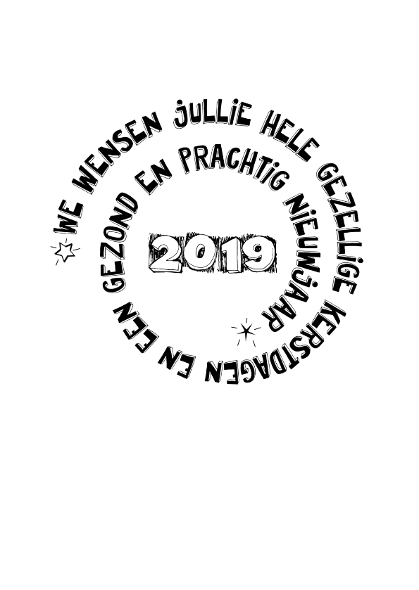 Kerstkaarten - Cirkel tekst feestdagen 2019