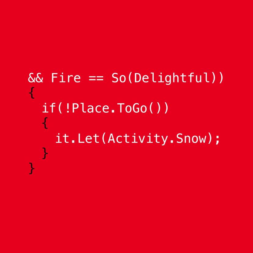 Kerstkaarten - Code christmas rood