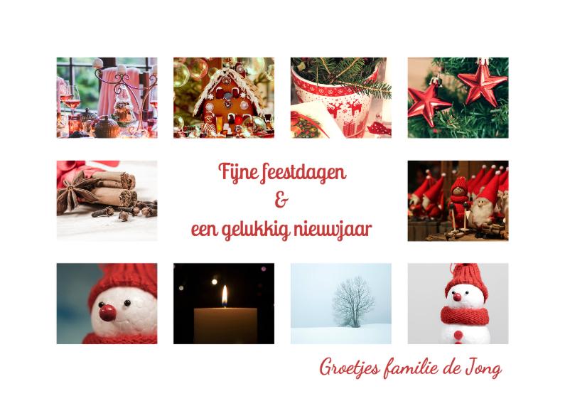 Kerstkaarten - Collage kerst 10 foto's