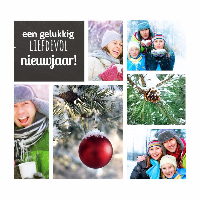 Kerstkaarten - Collage kerst 6 foto's - DH