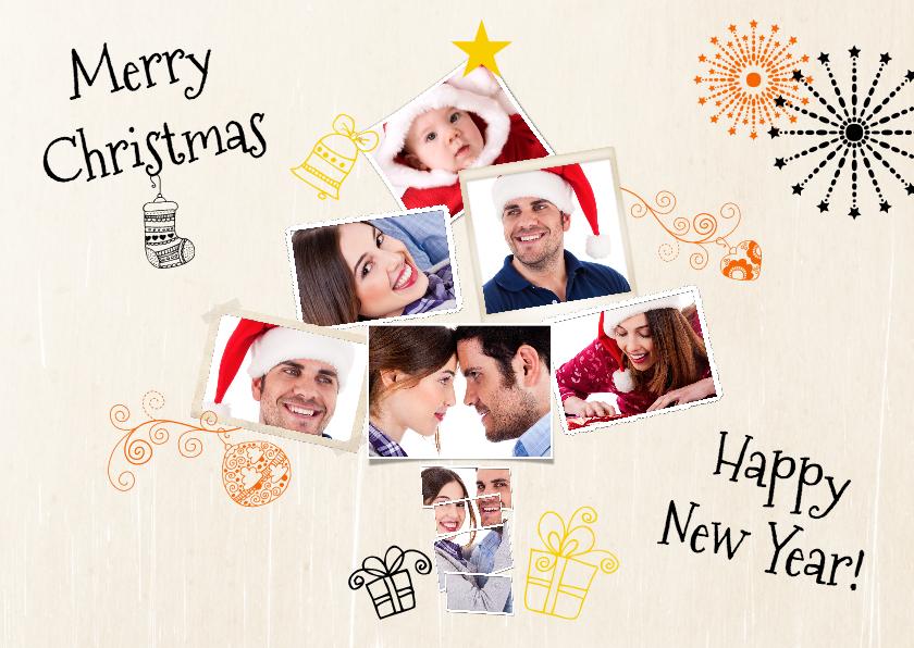 Kerstkaarten - Collage kerstboom 7 foto's - BK