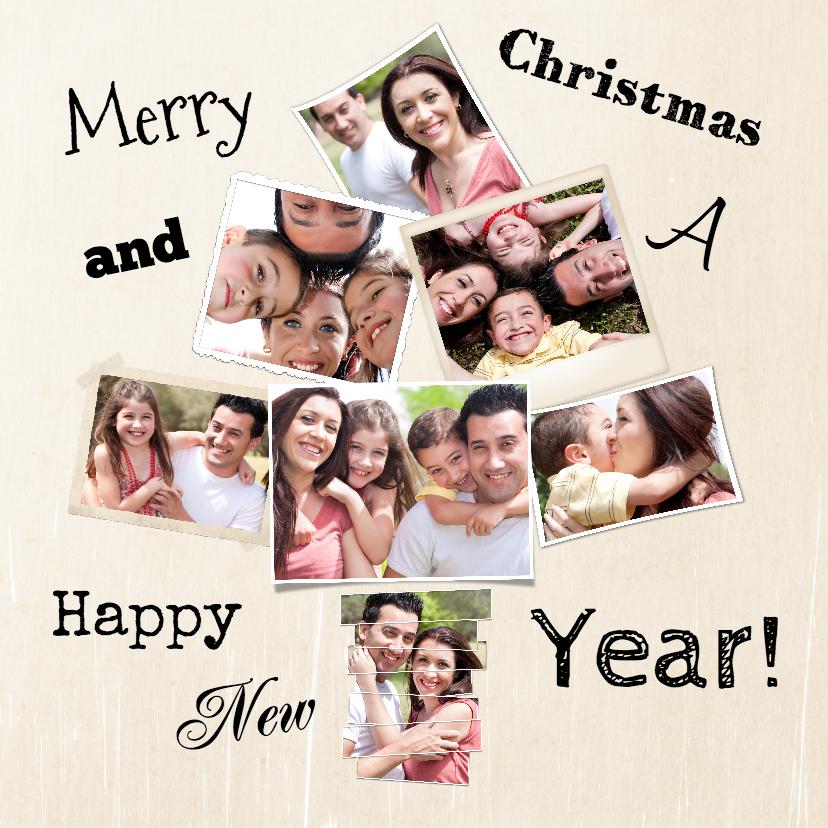 Kerstkaarten - Collage kerstboom 8 foto's - BK