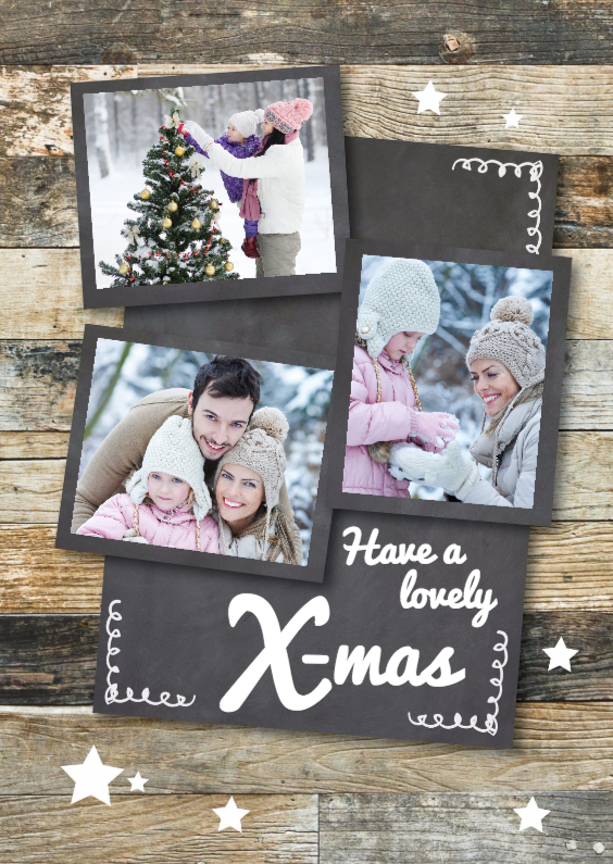 Kerstkaarten - Collage kerstkaart - staand