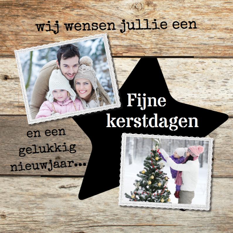 Kerstkaarten - collage kerstkaart - steigerhout