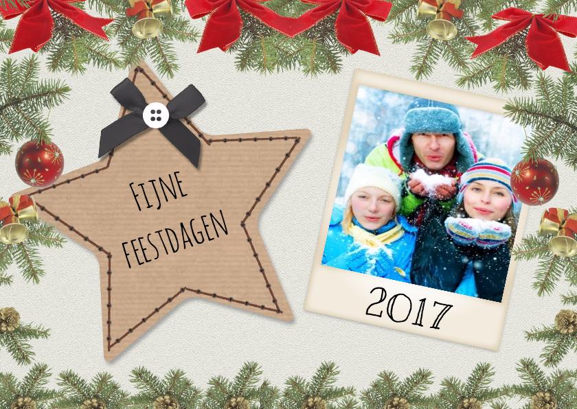 Kerstkaarten - Craft Ster kerst - Dh