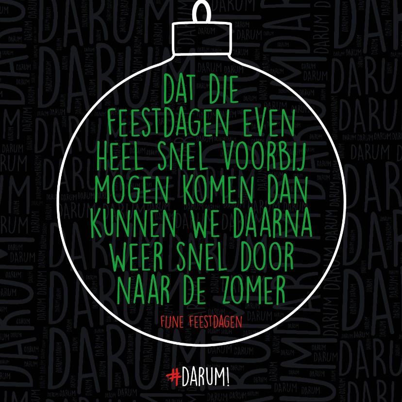 Kerstkaarten - Dat die feestdagen even heel snel voorbij....