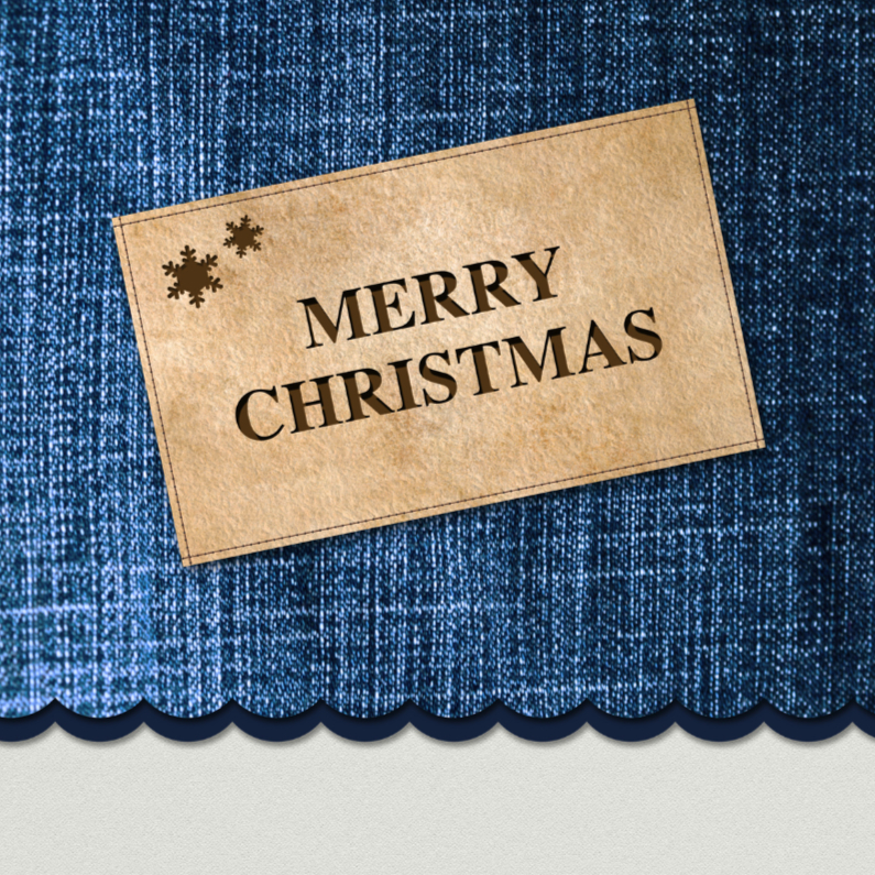 Kerstkaarten - Denim blue Christmas - DH