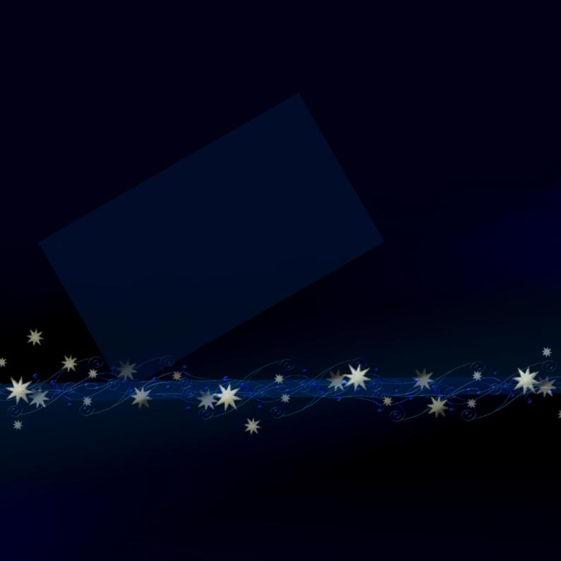 Kerstkaarten - Donkerblauwe kerst