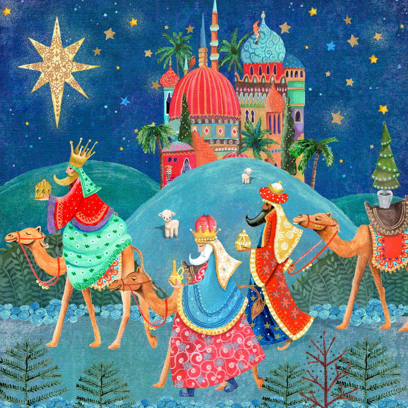 Kerstkaarten - Drie Koningen kerstkaart