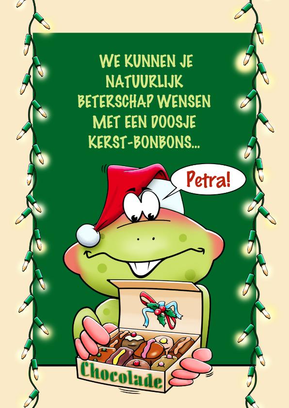 Kerstkaarten - Een beterschapskaart voor rond de feestdagen, opkikkertje
