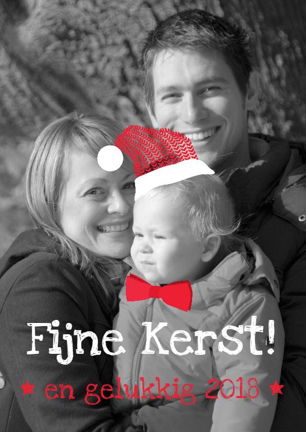 Kerstkaarten - Eigen foto Kerstkaart met hoedje
