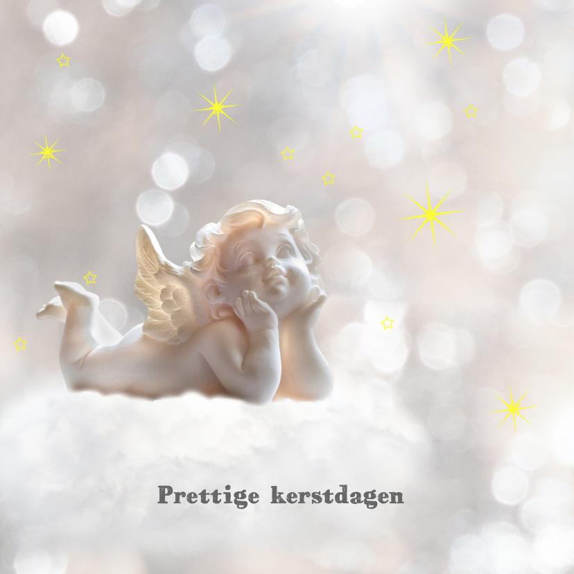 Kerstkaarten - Engeltje tussen de sterren
