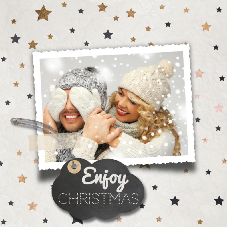 Kerstkaarten - Enjoy christmas - brons