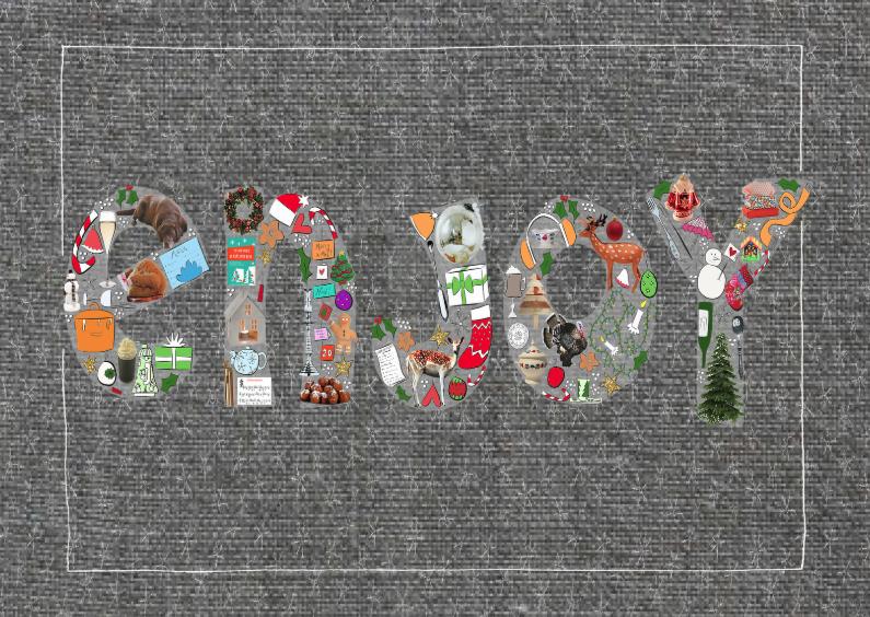 Kerstkaarten - Enjoy de feestdagen