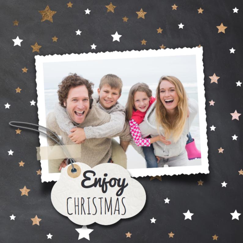 Kerstkaarten - Enjoy kerst - brons