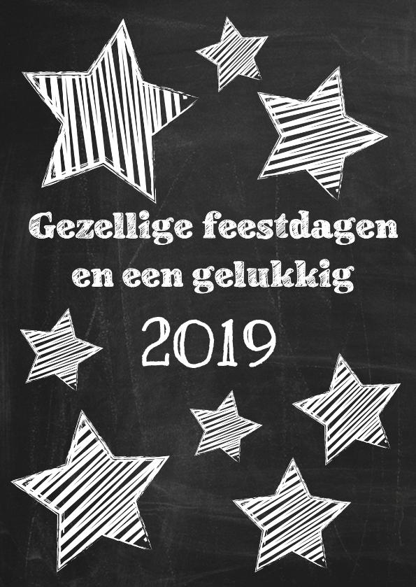 Kerstkaarten - Feestdagenwens op schoolbord 2019-ByF